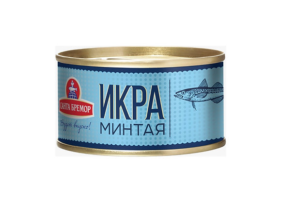 Salted Alaskan Pollock Roe, Ready to Eat 140g/tin