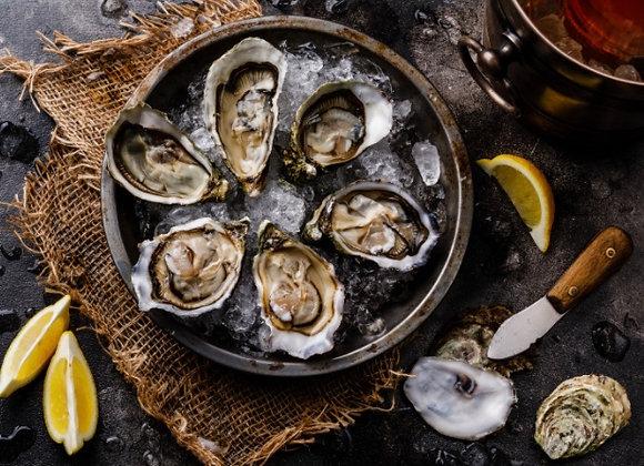 Fresh, Fine de Claire Celine Oysters No3, 60-90g/pc, France