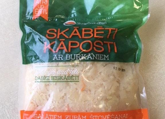 Sauerkraut. Ready to eat. 800g/pkt