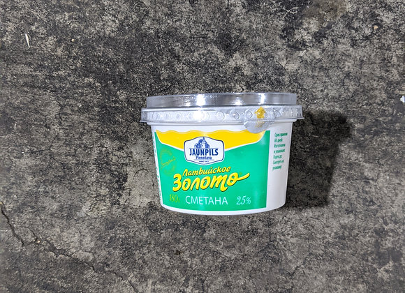 "Sour cream ""Latvian gold"" 180g"