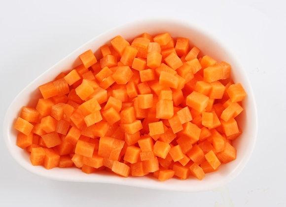 Carrot Diced Frozen 1kg/pkt