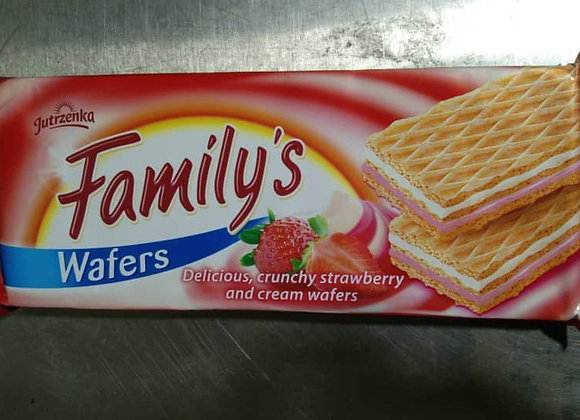 Wafers Family Strawberry-Cream Flavour 180g