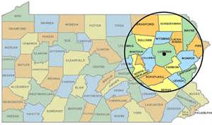Map or Areas FCS services: Wilkes Barre, Scranton Area