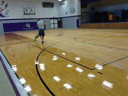 gymnasium floor refinsihing
