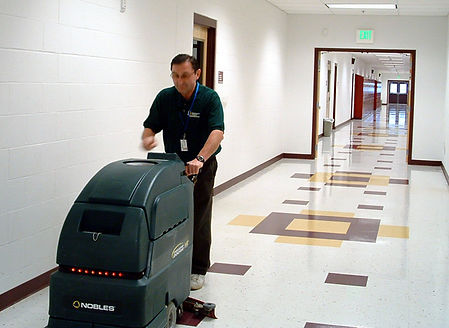 Professional Floor Cleaning and Polishing of a school.