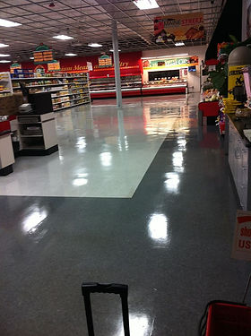 Retail store that had professional floor stripping, cleaning, and polishing done by FCS
