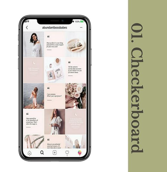 Checkerboard Instagram Grid Layout Habitat Society Health and Wellness Website Design & Branding