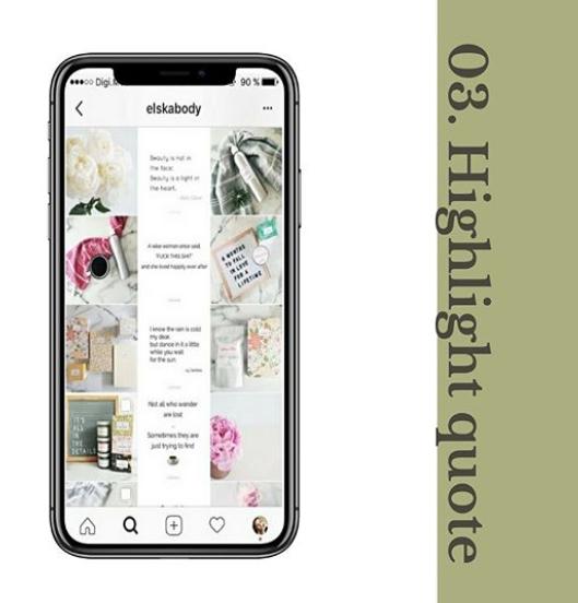 Highlight Quote Instagram Grid Layout Habitat Society Health and Wellness Website Design & Branding