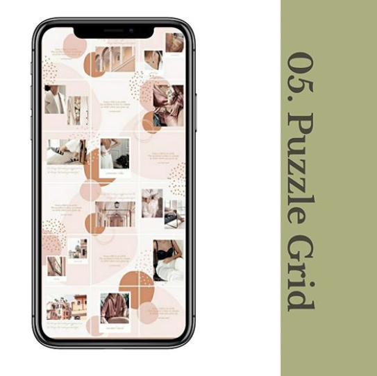 Puzzle Grid Instagram Grid Layout Habitat Society Health and Wellness Website Design & Branding