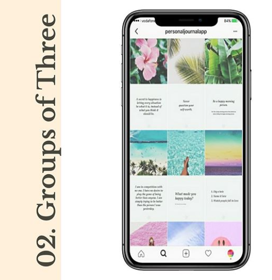 Group of three Instagram Grid Layout Habitat Society Health and Wellness Website Design & Branding