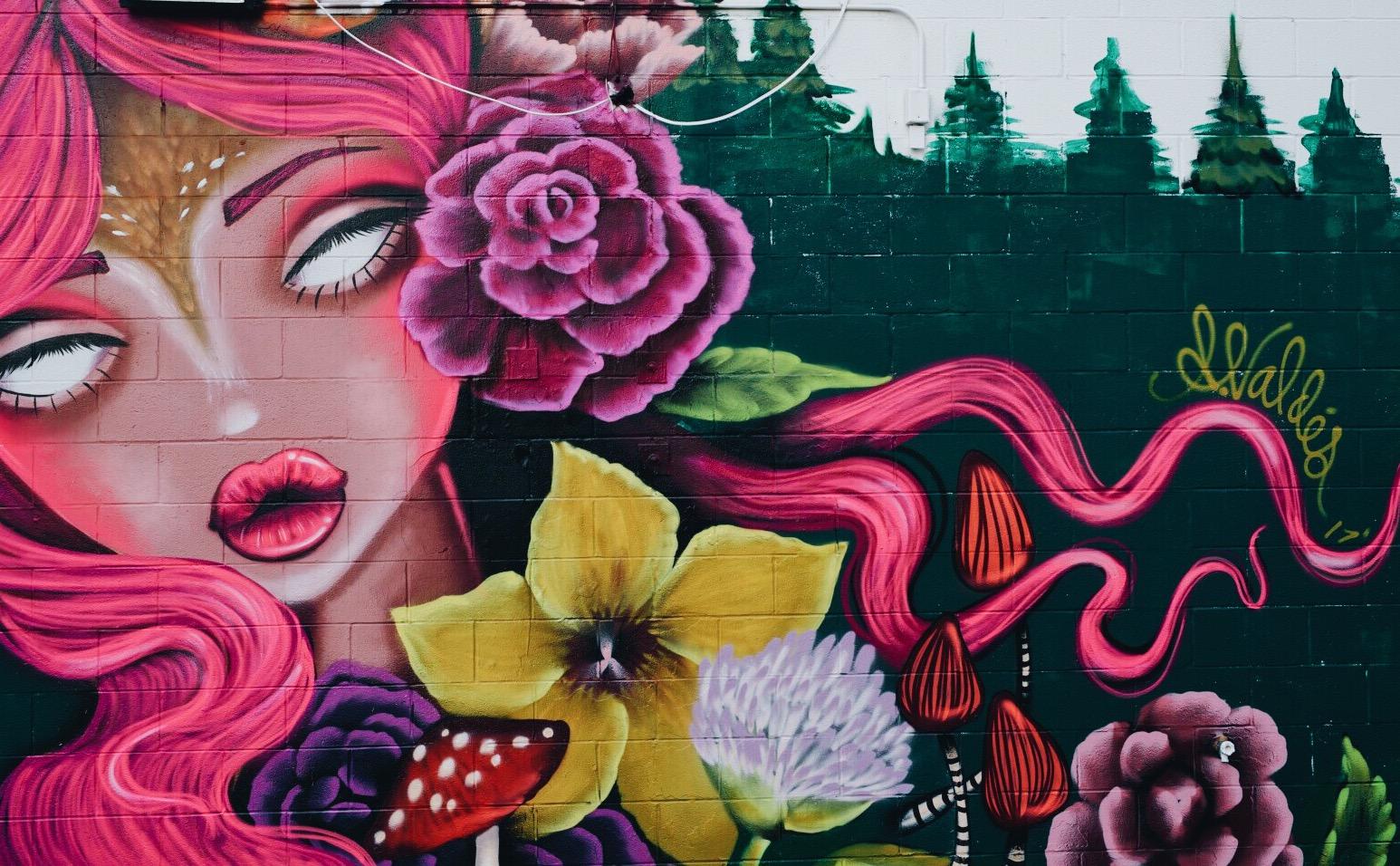 Amanda Valdes Des Moines Iowa Mural
