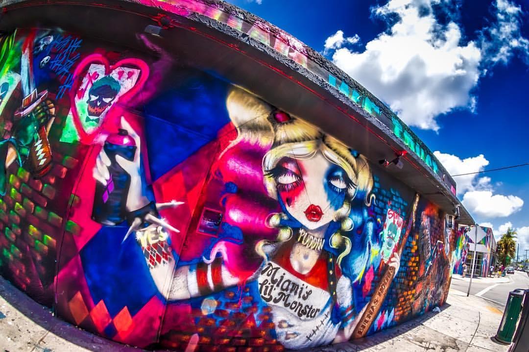 Harley Quinn Mural Wynwood Miami