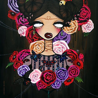 avaldes, frida, kahlo, mexican surrealist, surrealism, fine art, pop surrealism, fashion, valentino, painting, pop surreal, artwork