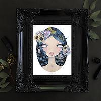 Amanda, Valdes, avaldes, art, teal, aqua, pop art, lowbrow, artist, painting
