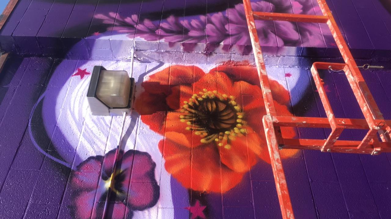 Amanda Valdes Iowa Mural