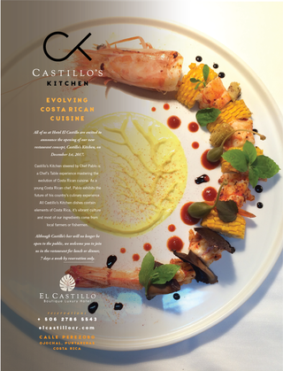 CASTILLO'S KITCHEN Full Page Print Ad