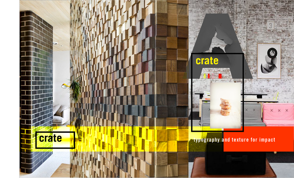 CRATE RESTAURANT, Concept Boards