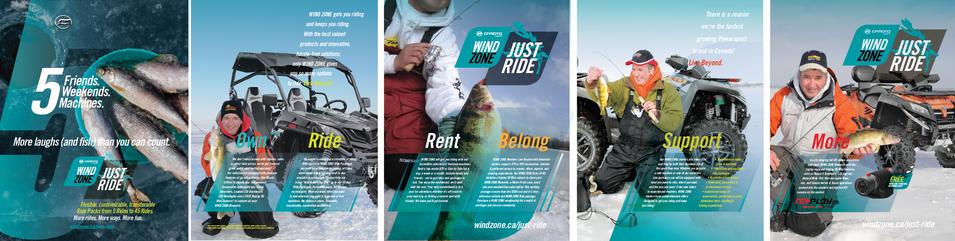 JUST RIDE Print Ad, Winter, 6 Page Spread - ATV World Magazine
