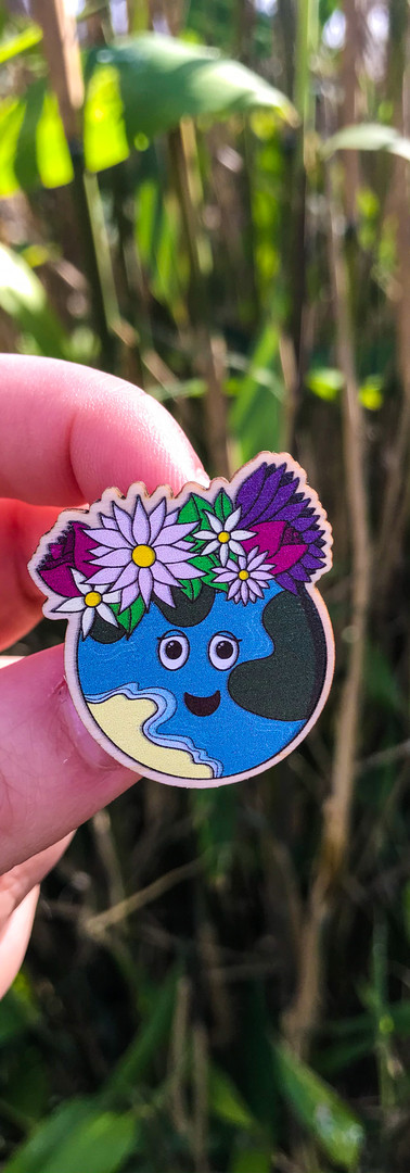 Our Planet Wooden Pins