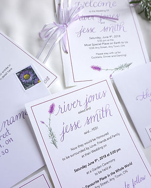 Custom Calligraphy Invitations