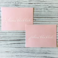 Vellum Calligraphy Place Cards