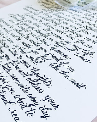 Custom Vows and Love Notes