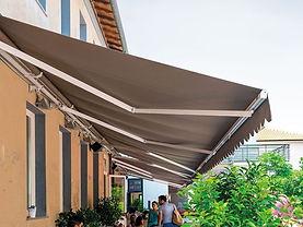 Retractable Awning Brown Sunbrella Fabri
