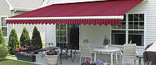 Retractable Awning Red and White Stripe