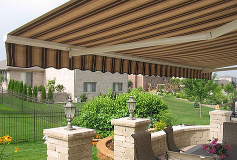 Retractable Awning Sunbrella stripe Fabr