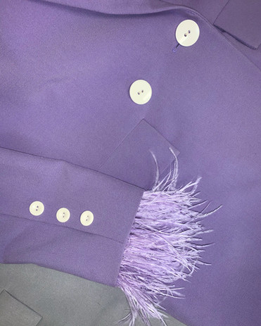 Agapes Wear švarkas su nuimamomis plunksnomis