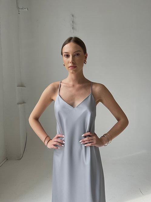 Pilkos spalvos slip dress/suknelė