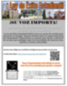 Student Success Act Flyer SPANISH VERSIO