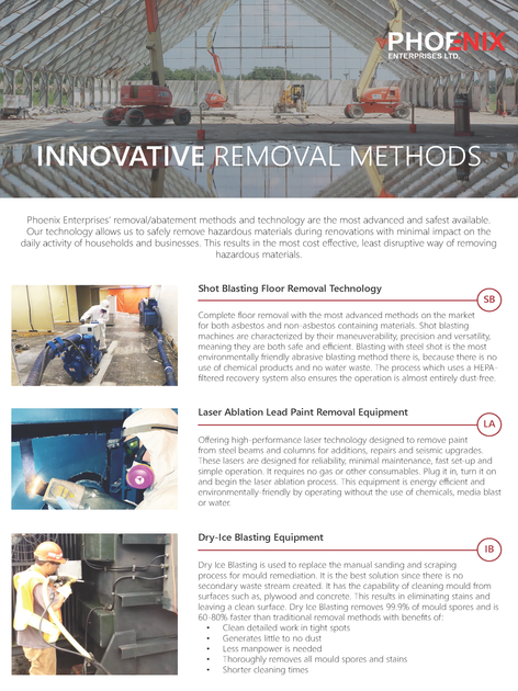 Innovative Technology and Removal Methods