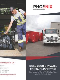 Asbestos Drywall Disposal Brochure