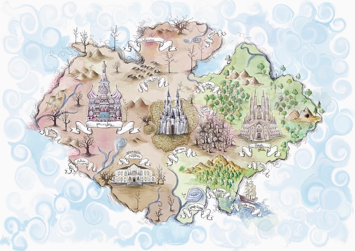 Mapa del continente Taiga