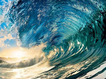La ola regresa al océano