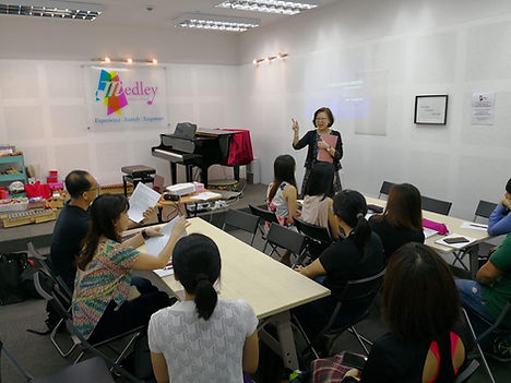 Teachers' Training at Medley Music School Toa Payoh Piano Violin Lessons class for kids Special needs enrichment