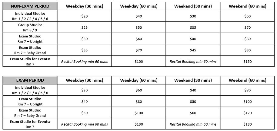 Studio Booking Rates at Medley Music School Singapore Toa Payoh, recital room, performance