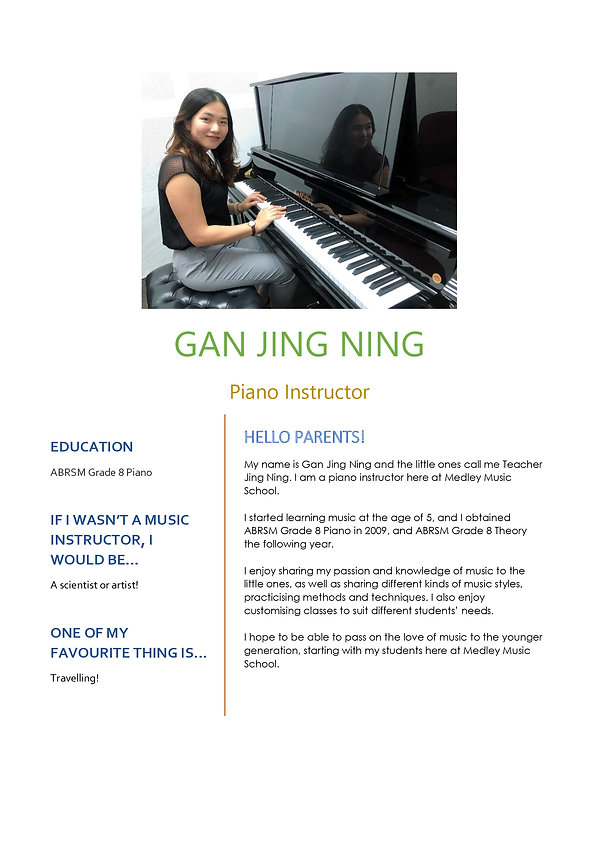 Medley Music School Piano Keyboard Teacher
