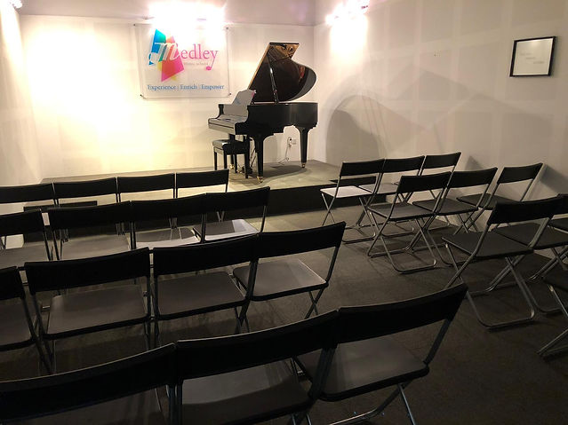 Medley Music School Singapore Toa Payoh Studio Booking, Baby Grand Piano, Recital Studio Rent