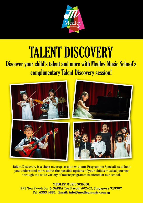 Talent Discovery at Medley Music School Singapore Toa Payoh Music Trial