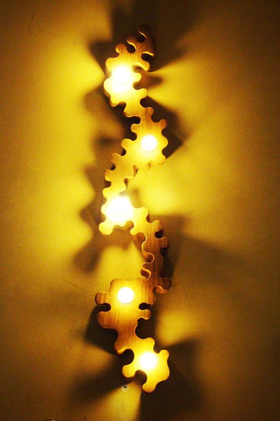 Cedarwood wall light
