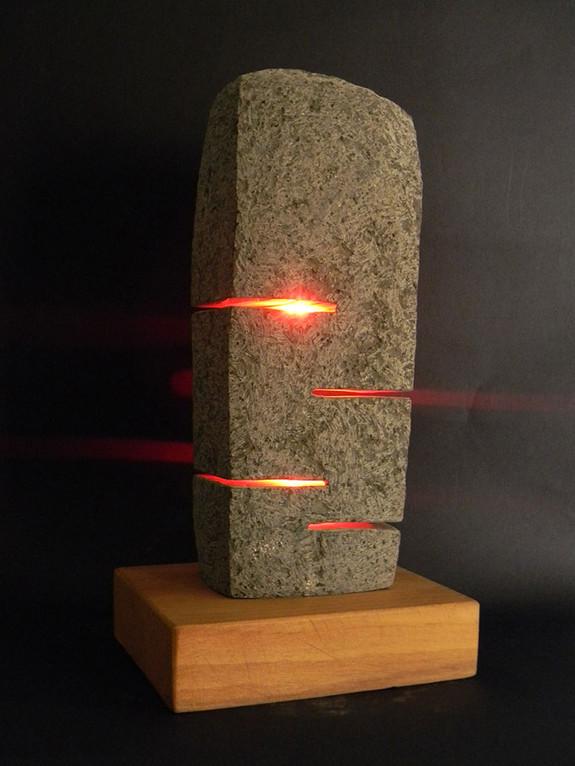 Basalt lamp