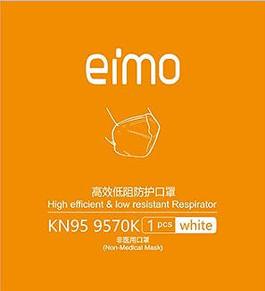 eimo-9570K KN95 COid-19 Facemask individ