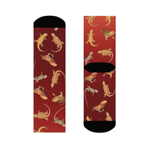 Red Bearded Dragon Crew Socks