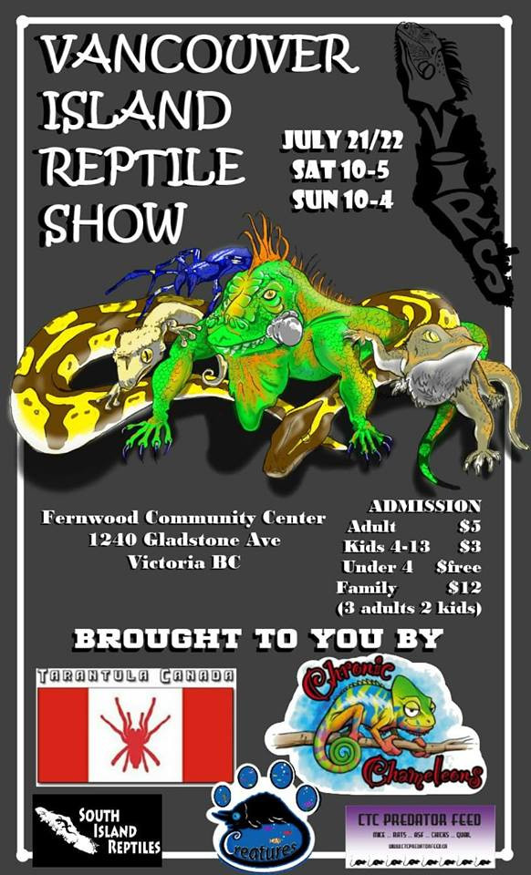 Come check us out at the Vancouver Island Reptile Show!
