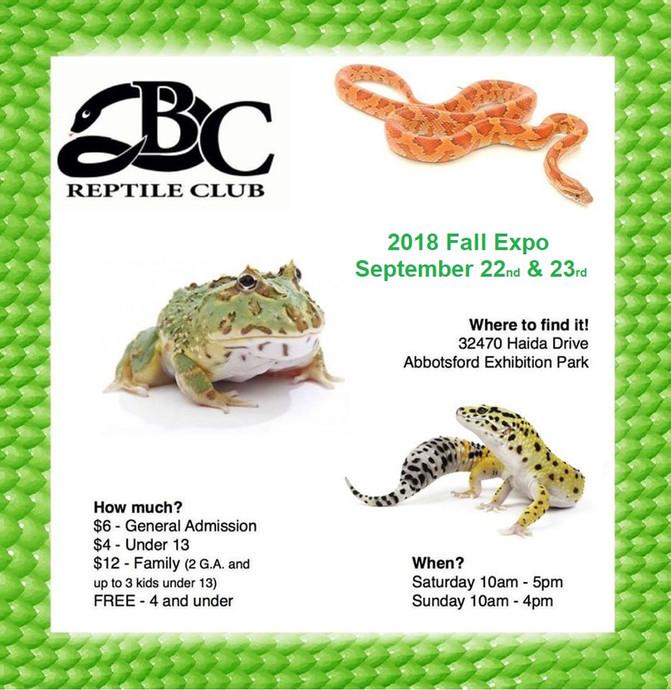 Abbotsford Reptile Expo!