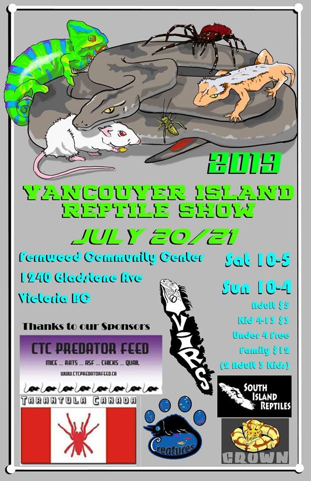Come check us out at the Vancouver Island Reptile Show in Victoria!