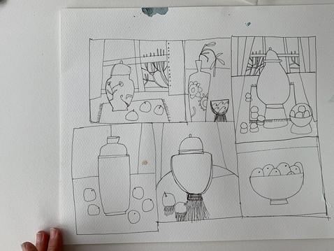 Ginger Jar Still Life Collage