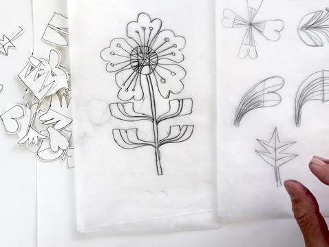 Drawing Retro Flowers